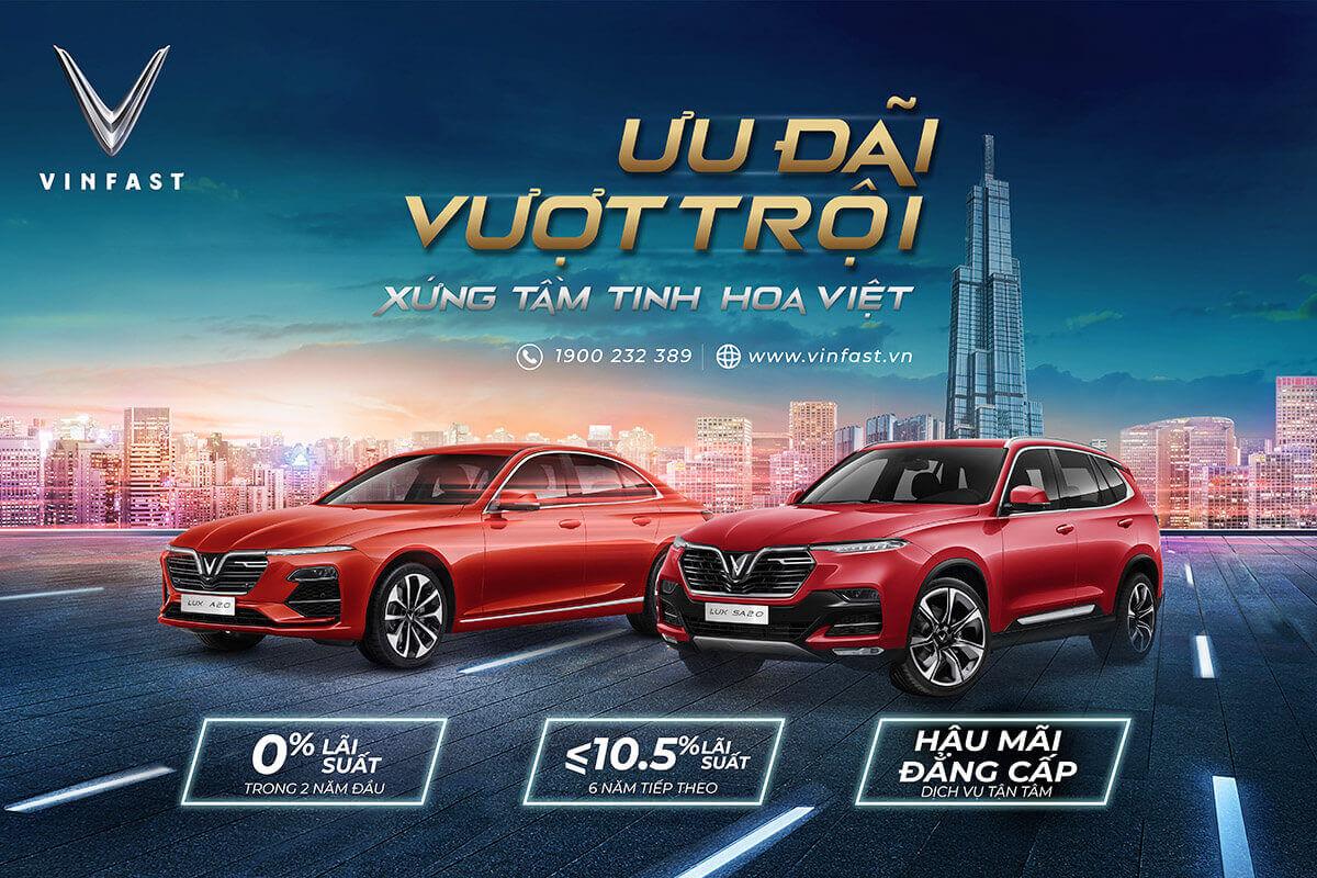 Mua xe VinFast Fadil, Lux A, Lux SA lãi suất 0%